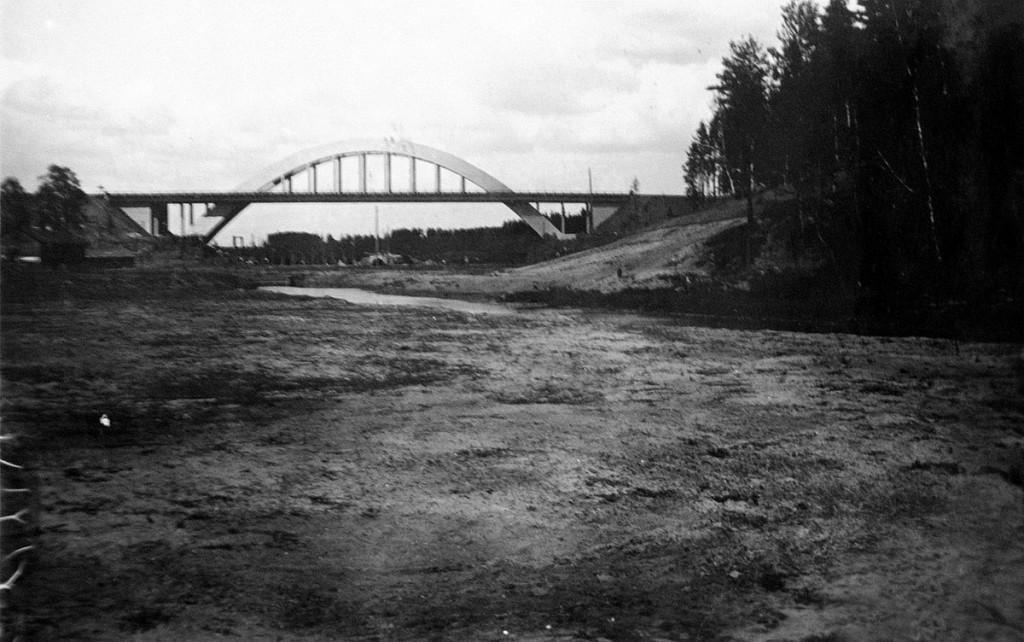 Река Химка до затопления и новый ЖД мост Ленинградской дороги