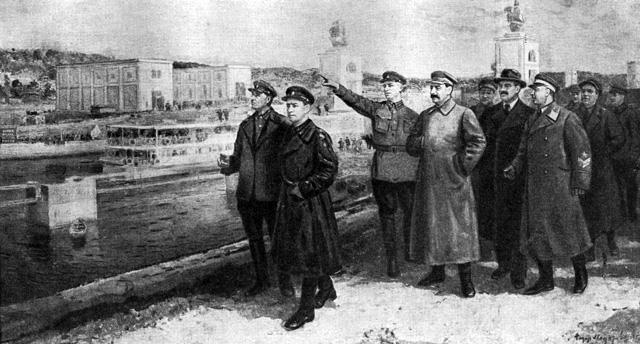 1937-04-22 Руководители партии и правительства на канале Волга-Москва. Автор Ф.Модоров Ф