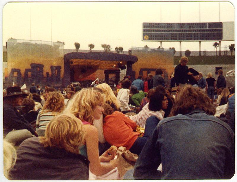 Led Zeppelin, Oakland California. Foto by Steven Crozier 24 July 1977 16