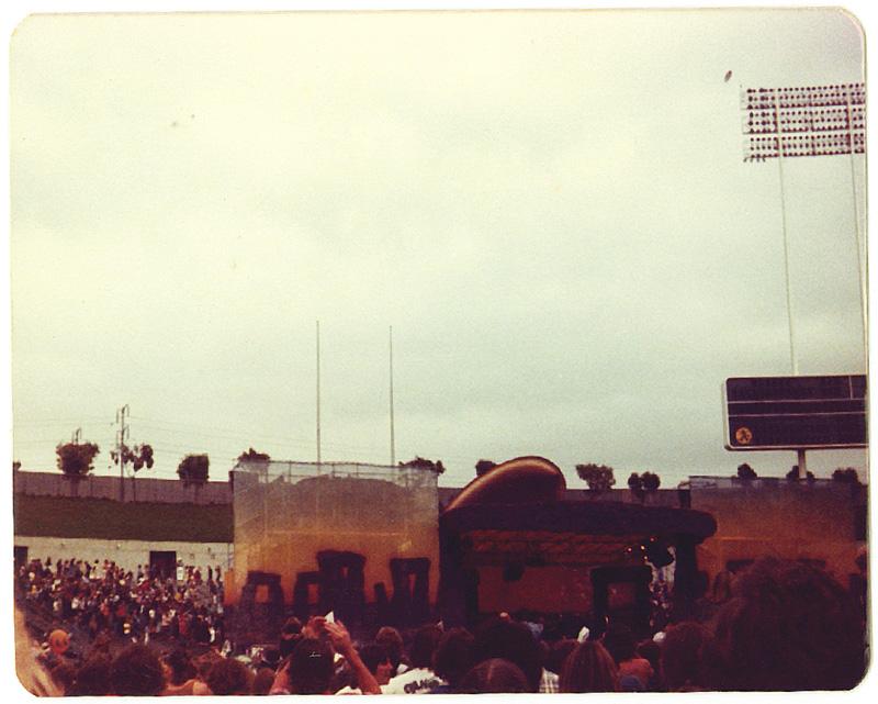 Led Zeppelin, Oakland California. Foto by Steven Crozier 24 July 1977 01
