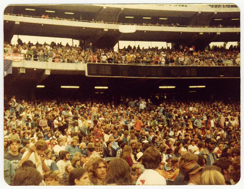 Led Zeppelin, Oakland California. Foto by Steven Crozier 24 July 1977 03
