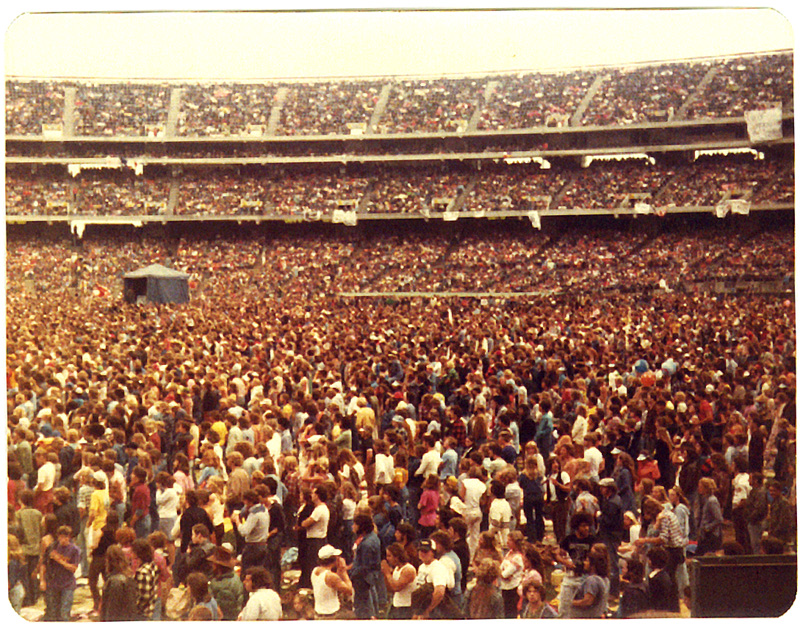 Led Zeppelin, Oakland California. Foto by Steven Crozier 24 July 1977 04