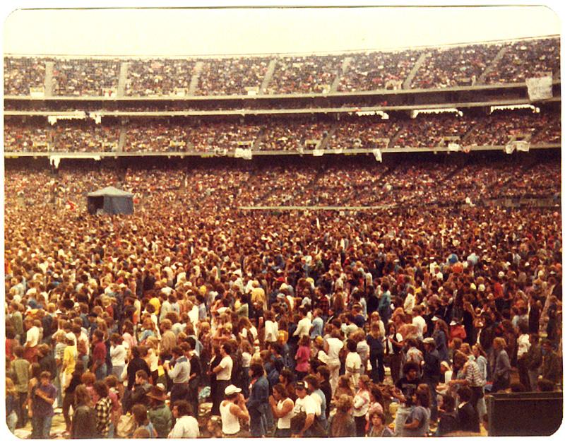 Led Zeppelin, Oakland California. Foto by Steven Crozier 24 July 1977 04