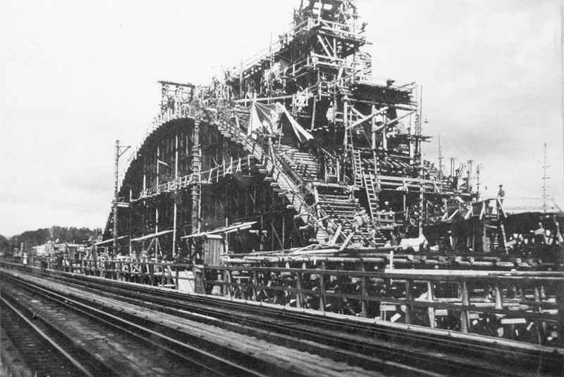 1935 лето Подмости и кружала моста