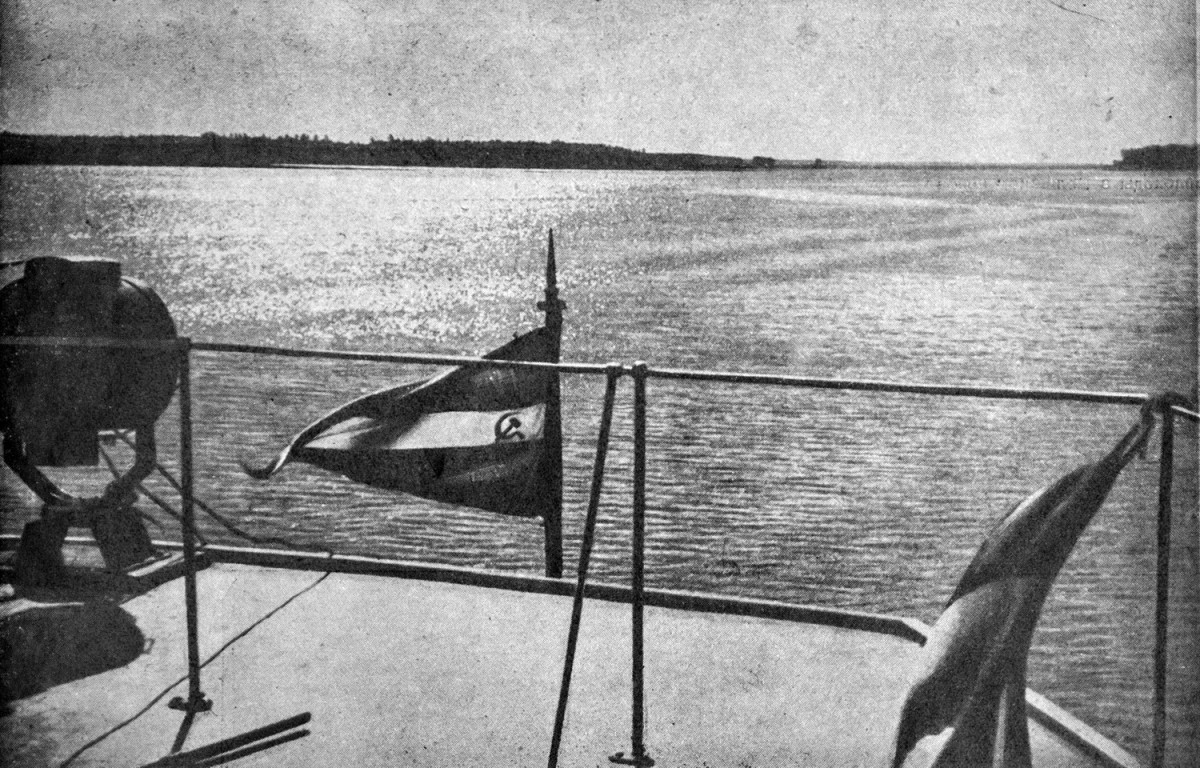 35-1 2 мая 1937 На борту 'Михаила Калинина' в Икшанском водохранилище