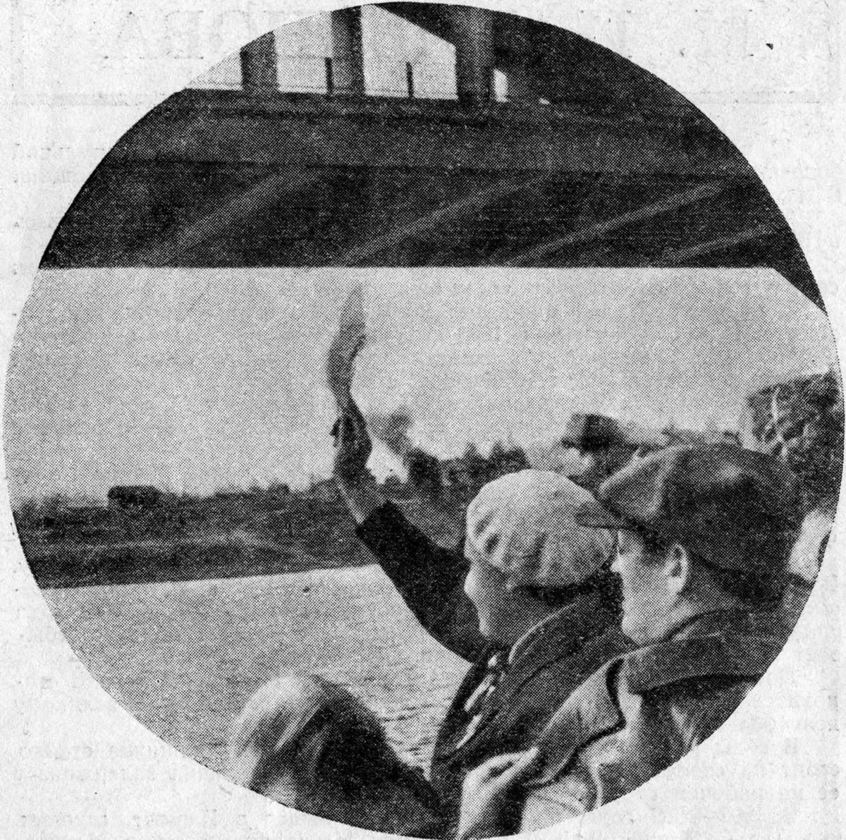 37 2 мая 1937 Химкинский жд мост. Журнал 'Огонёк' 1937 №16-17 (20 июня). Фото П.Трошкина
