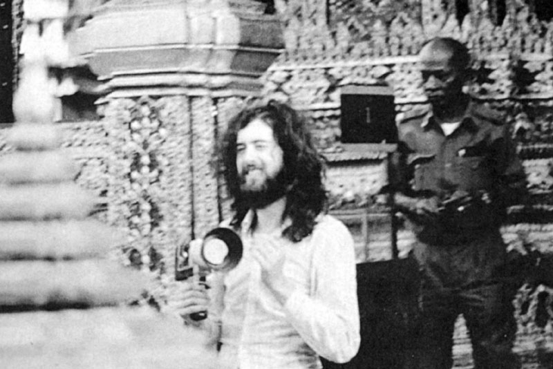 Jimmy Page, Emerald Buddha Bangkok 1971 from Richard Cole collection