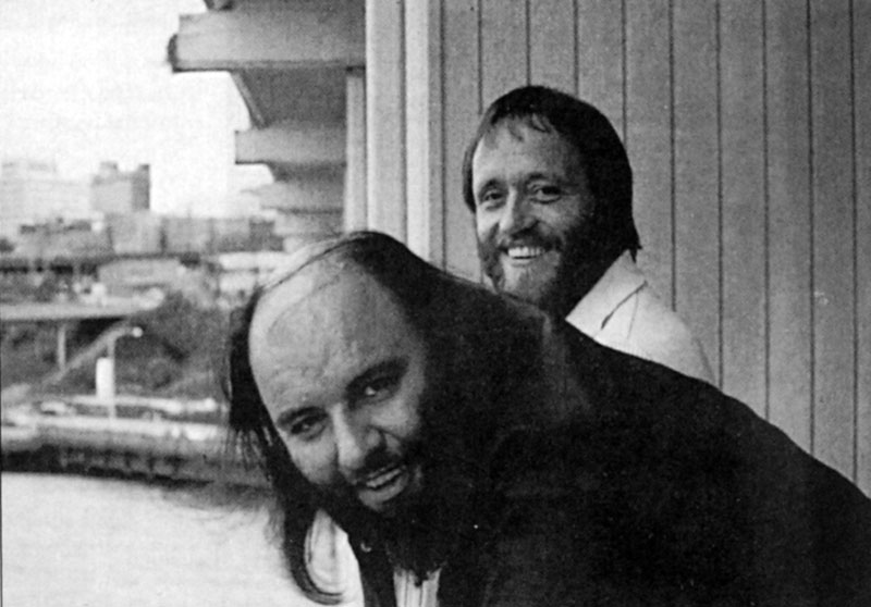 Peter Grant, with John Bindon Edgewater Inn Seattle 1977 from Richard Cole collection