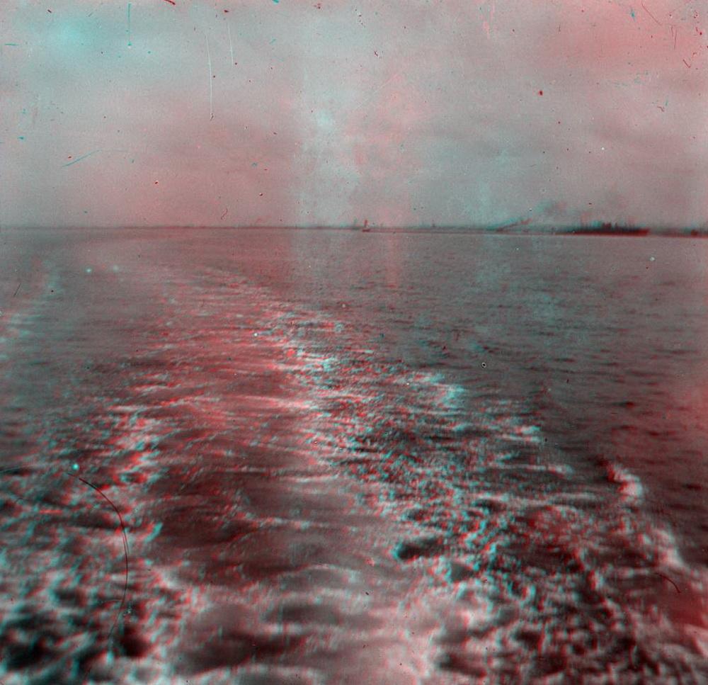 Стерео - море, кильватерная струя
