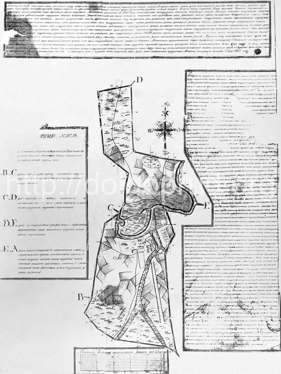 1769 - План села Спасское (Котово)