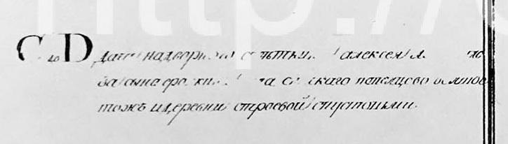 1769 - План села Спасское (Котово) фрагмент