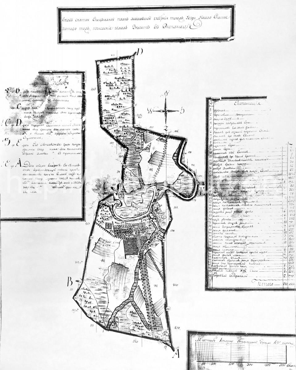 ок.1760 - План села Спасское (Котово)