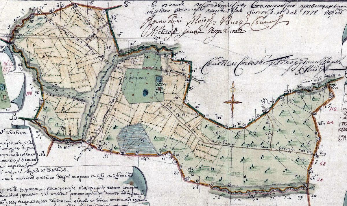 1771 год. Деревня Редькино с землями