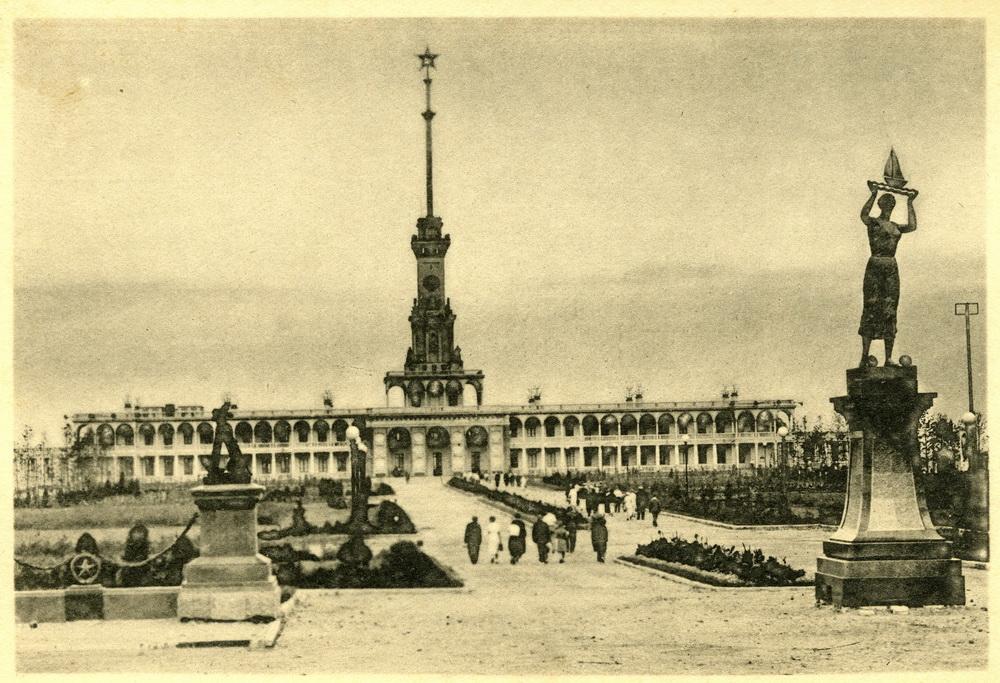 1938 Канал Москва-Волга №6. Речной вокзал в Химках. Фото Н.Грановского. Изогиз, тир. 10000