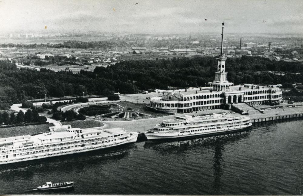 1966 Москва. Северный речной вокзал в Химках. Фото Б.Вдовенко. Орбита, тир.40000