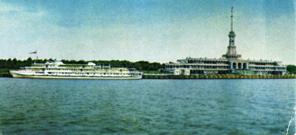 1967 Москва. Химки - северный речной порт. Фото Т.Бакмана. Советский художник