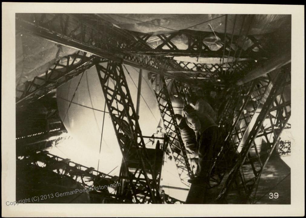 "Июль 1931 года. Подготовка к сбросу радиозонда с борта ""Графа Цеппелина"""