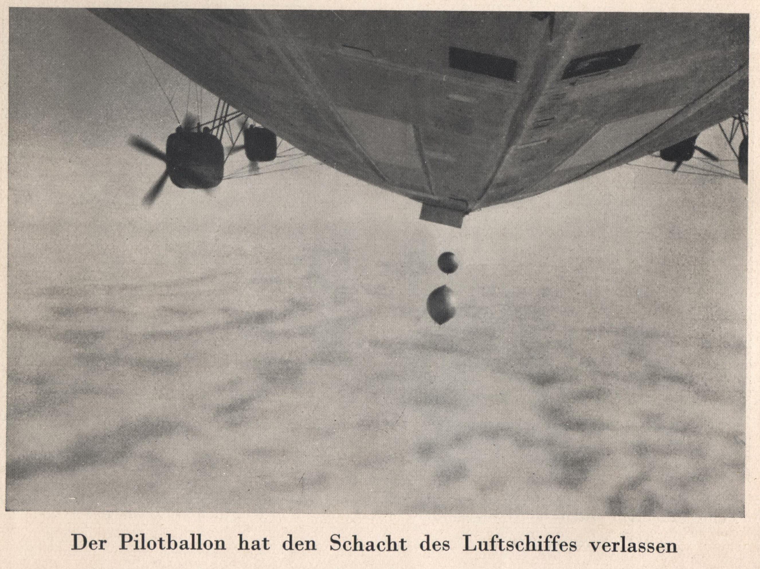 """28 июля 1931 года, 11:10. Запуск второго радиозонда с """"Графа Цеппелина""""."""