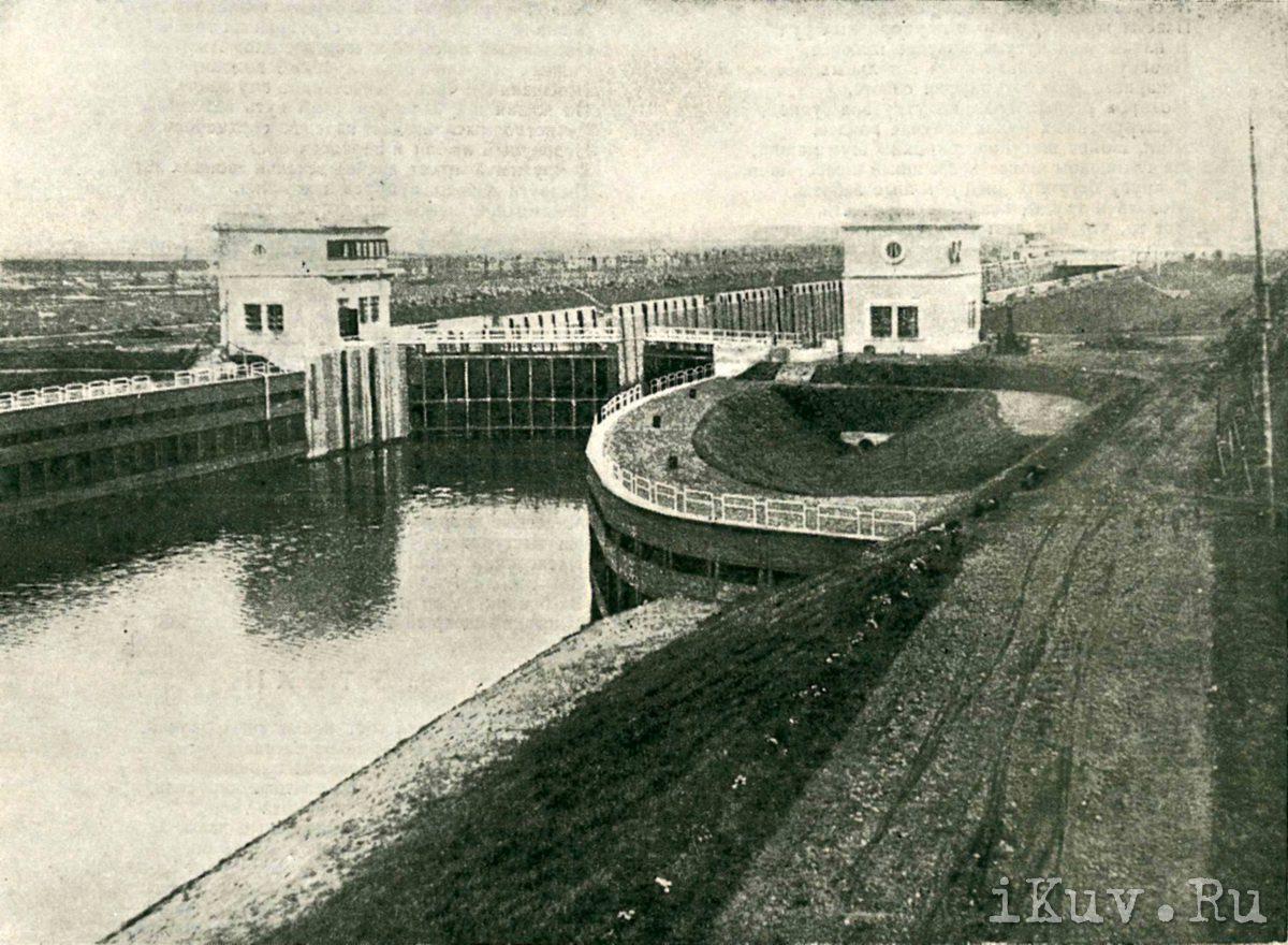 1936 год. Перервинский шлюз №10. Фото С.Болдырева