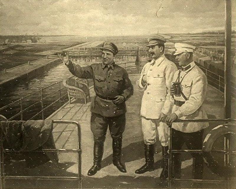 Киров, Сталин и Ворошилов осматривают ББК.
