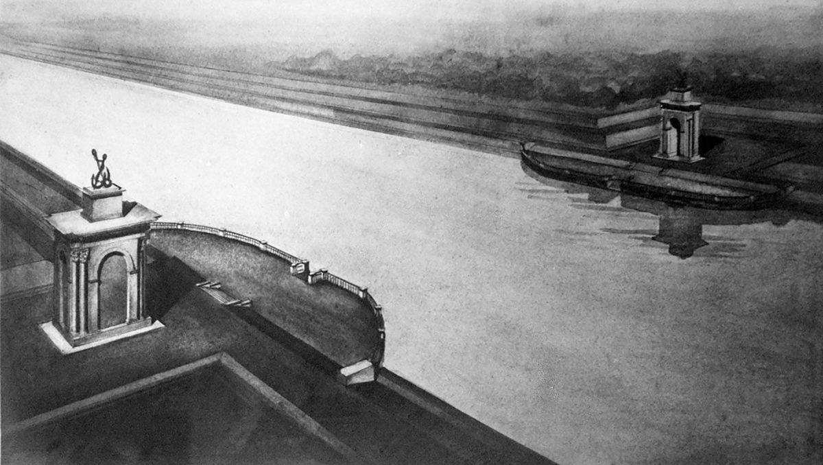 Проект оформления заградительных ворот №121. Арх. В.Ф. Кринский.