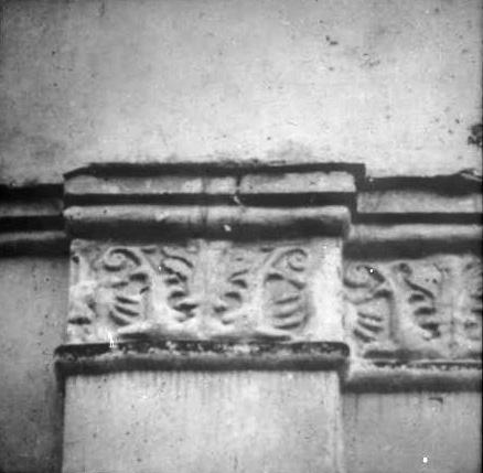 1920-1930 годы. Чашниково. Троицкая церковь. Фрагмент декора фасада. Фото С.А.Торопова