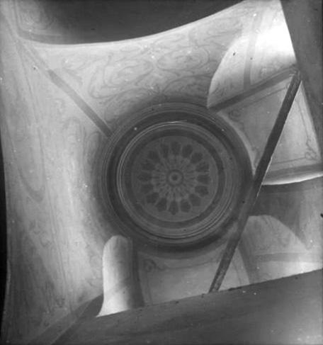 1920-1930 годы. Чашниково. Троицкая церковь. Интерьеры. Вид на своды. Фото С.А.Торопова