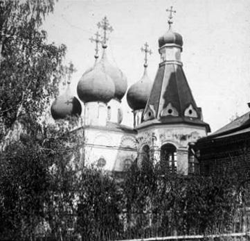 1920-1930 годы. Чашниково. Троицкая церковь. Вид с северо-запада. Фото С.А.Торопова