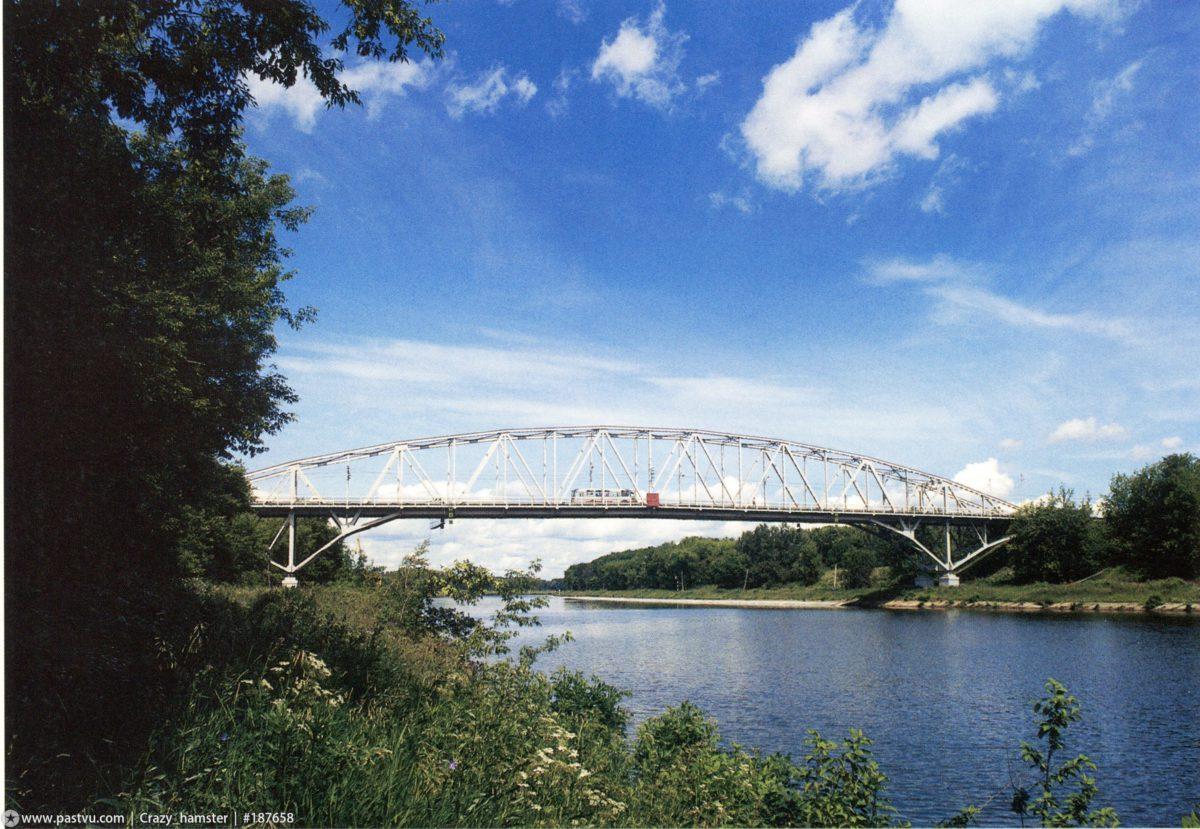Вид Яхромского моста в конце 1990-х годов (www.pastvu.com)