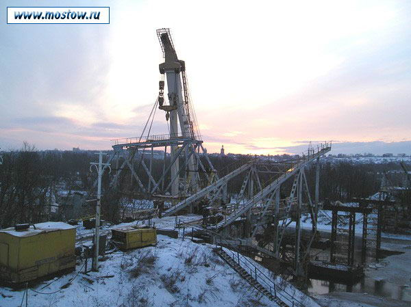 2005 год. Демонтаж старого Яхромского шоссейного моста. Фото с сайтаwww.mostow.ru.
