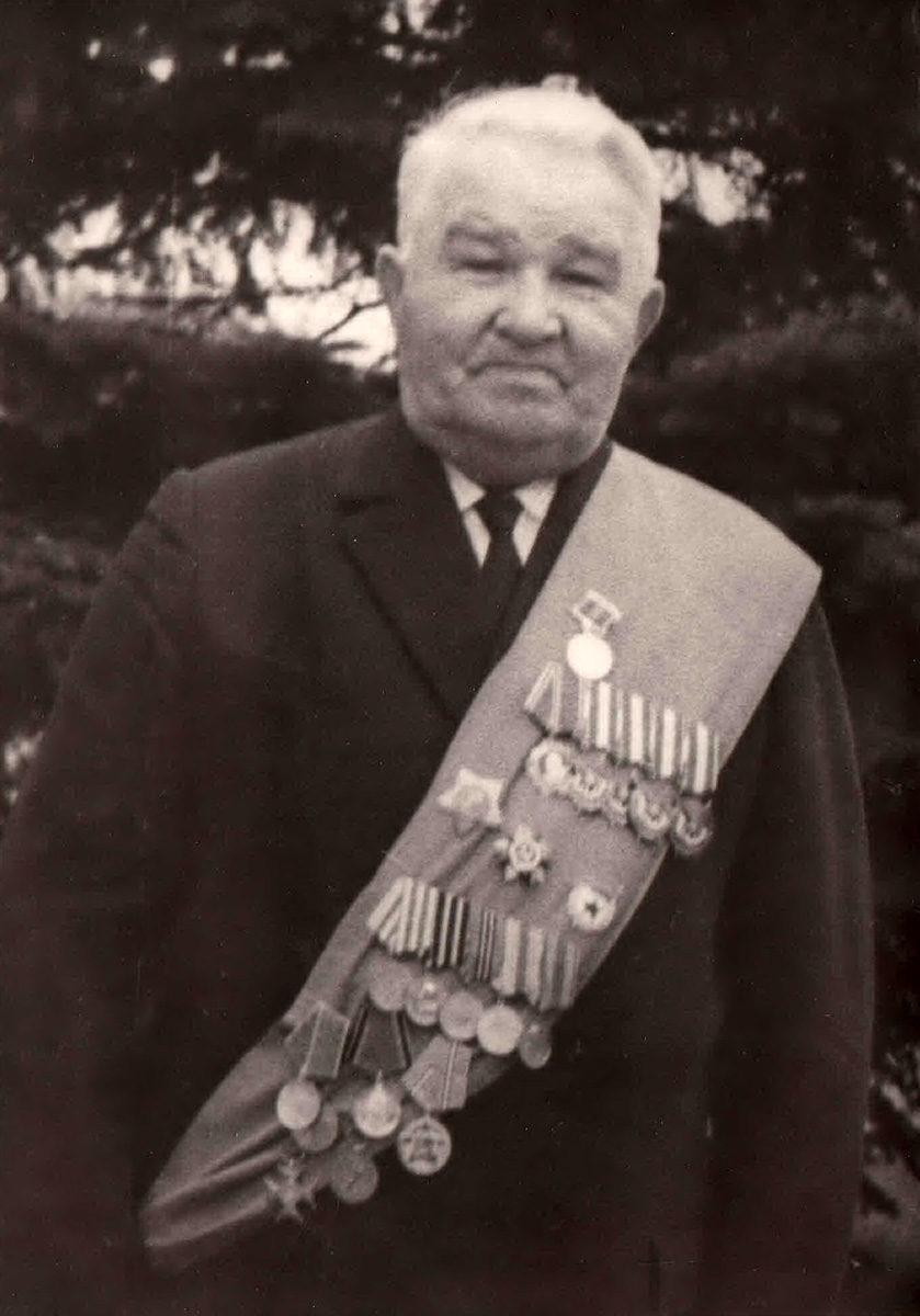 Ф.М.Савелов 9 мая 1975 года. Фото из архива семьи Савеловых.