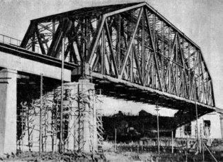 Железнодорожный мост у ст.Турист. Фото 1936 года, предположительно весна