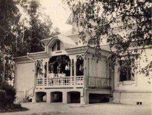 1917 год. Вид усадебного дома Г.К.Рахманова в Ивакино-Покровском. Фото В.Г.Еремеева