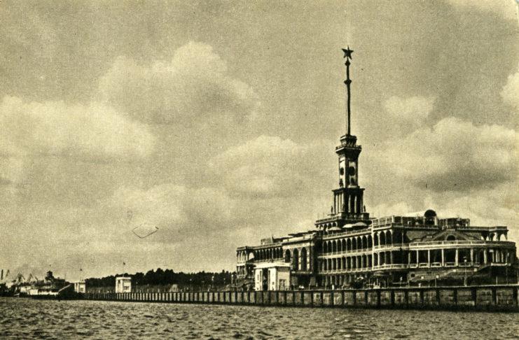 Химки. Речной вокзал. Фото И.Шагина. Изогиз, 1956, тир.100000