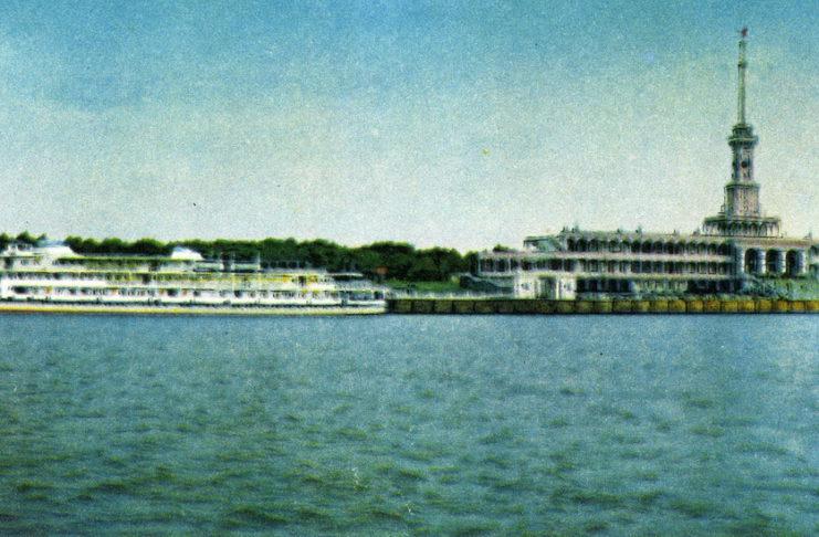 Москва. Химки - северный речной порт. Фото Т.Бакмана. Советский художник, 1967