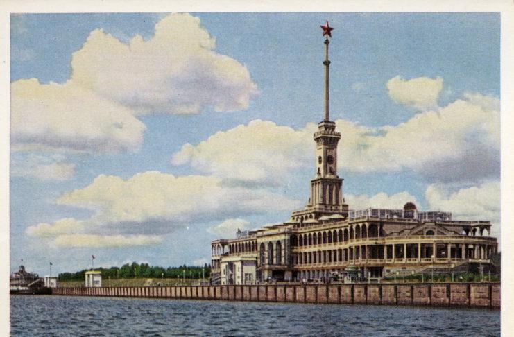 Москва. Северный речной вокзал. Изогиз, Москва, 1956, тир.50000
