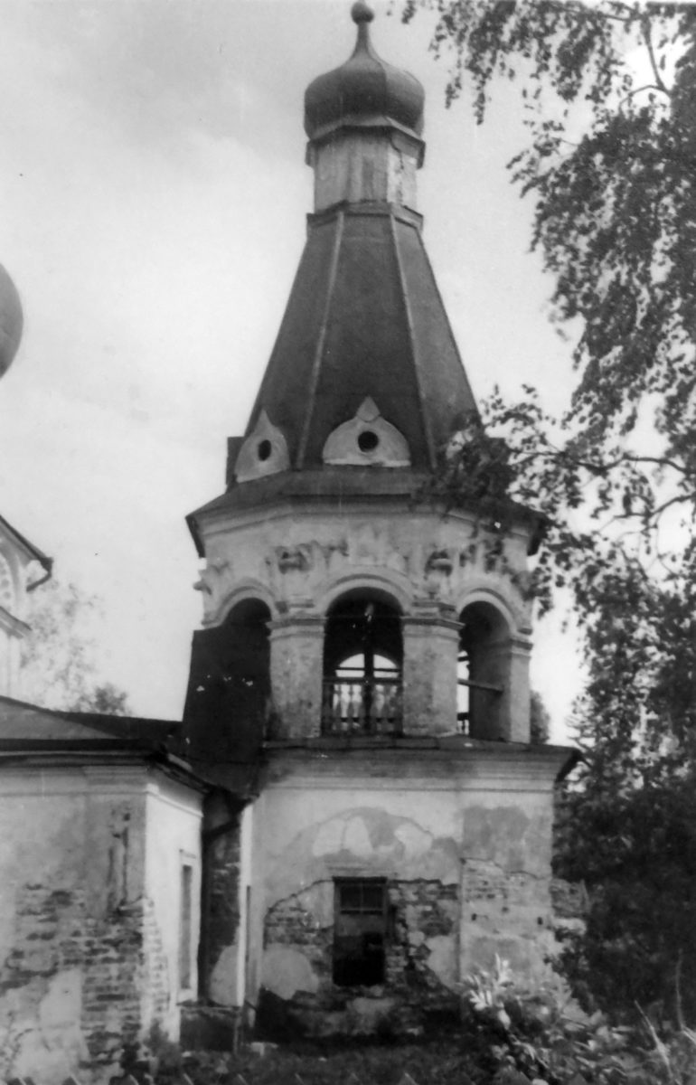 88. ЧАШНИКОВО. 16 мая 1948 года. Колокольня, северная сторона