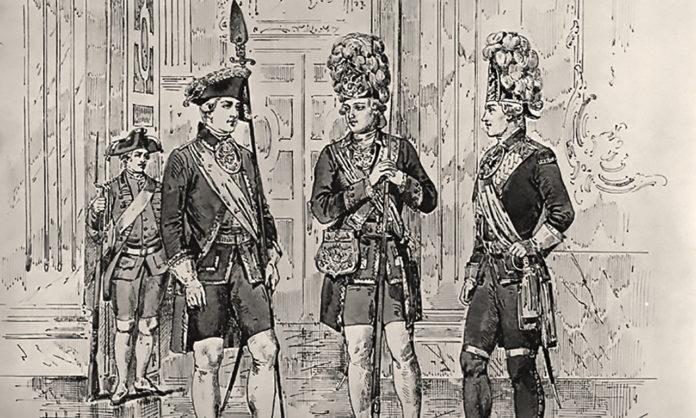 Форма одежды Семёновского полка времён Екатерины II