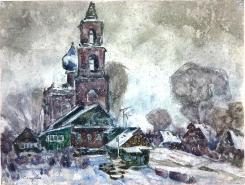 Лопухин А.Е. Траханеево. 28 марта 1972. Музей изобразительных искусств - филиал ГАУК Тюменской области.