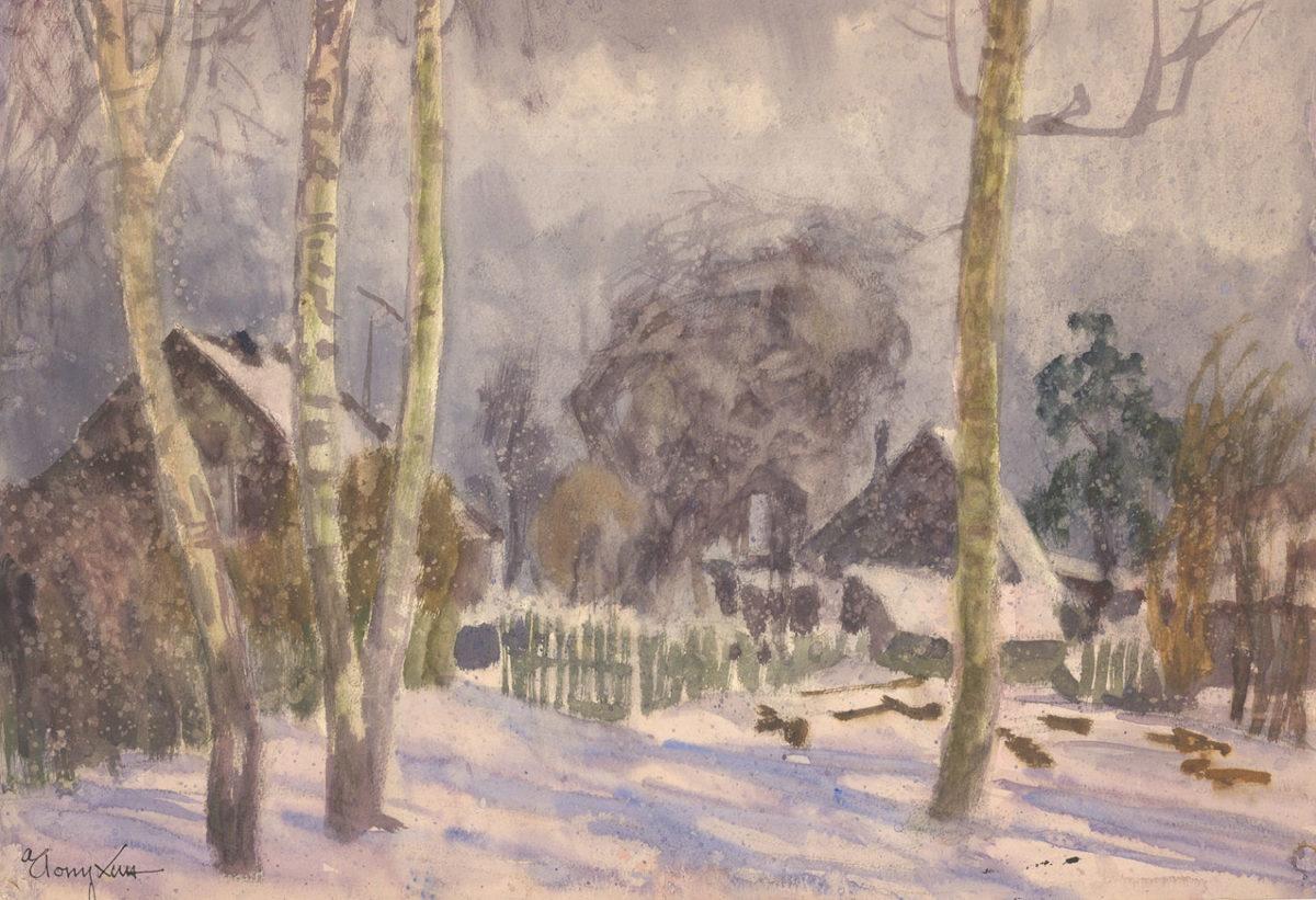 Лопухин А.Е. Зима в Свистухе. 1972. Частная коллекция.